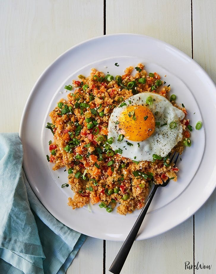 Your favorite Chinese take-out dish gets a low-carb twist with the help of riced cauliflower. Top it with a runny fried egg and dig in. Get the recipe.