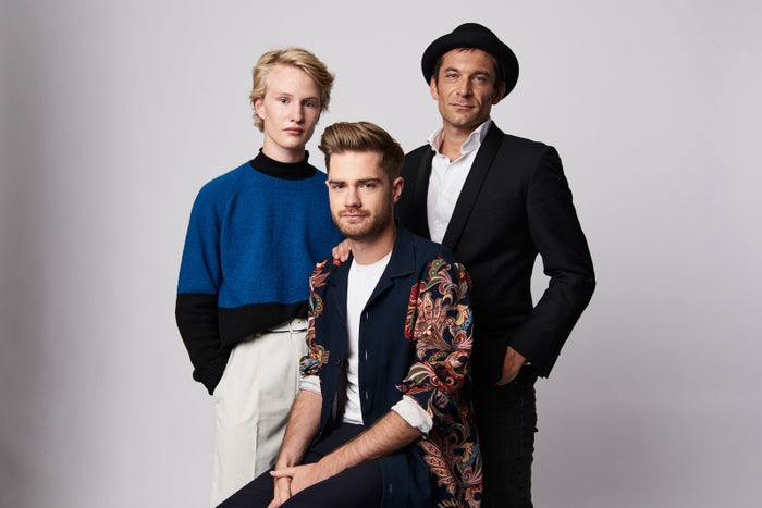 From left: Actor Victor Polster, filmmaker Lukas Dhont, and actor Arieh Worthalter from the film Girl during the 2018 Toronto International Film Festival.