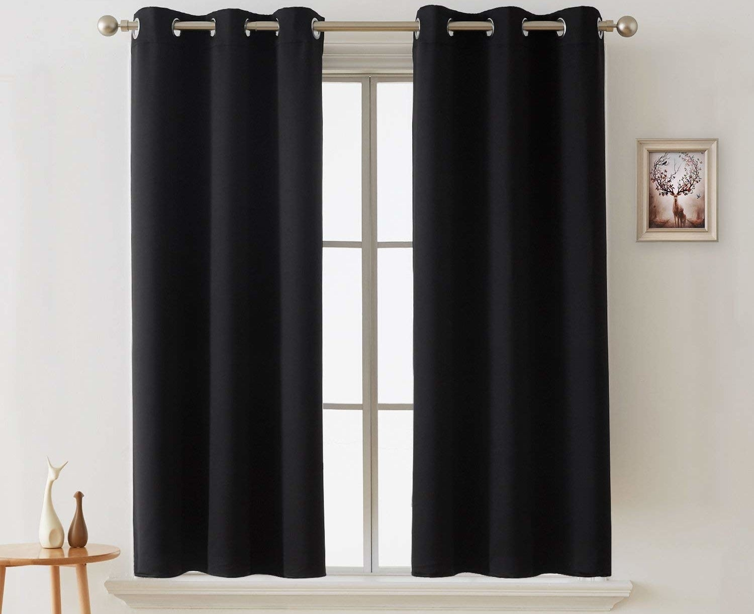 "Promising review: ""THEY ACTUALLY KEEP OUT THE LIGHT!!! I love these curtains! They keep our room a lot less cold from the window, and keep the sun completely out early in the morning until we're ready to let the daily blast of sunrise in, haha. They made our room feel cozier."" —Audrey CedeñoGet them from Amazon for $8.99+ (available in various colors, and five sizes)."