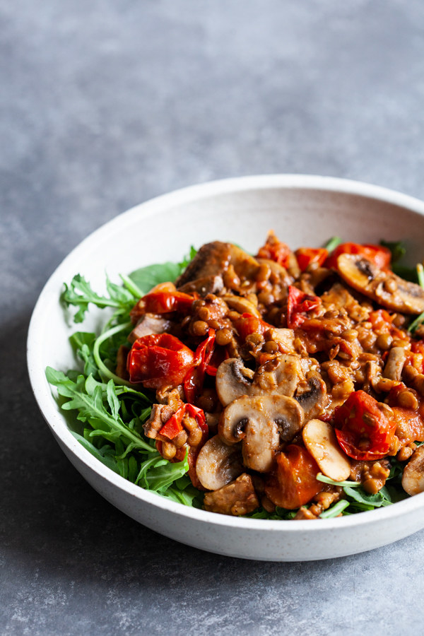 Warm salads are totally underrated, especially when it's cold outside. Use a bunch of different mushrooms like cremini, shiitake, and portobello for a seriously satisfying lunch. Get the recipe.