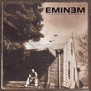 """Em's follow up to The Slim Shady LP elevated him to superstardom with hits like """"Stan,"""" """"The Way I Am,"""" and """"The Real Slim Shady."""" It also made him the talk of every PTA meeting and morning talk show."""