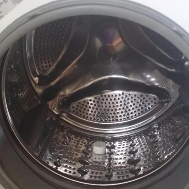 a very clean washing machine