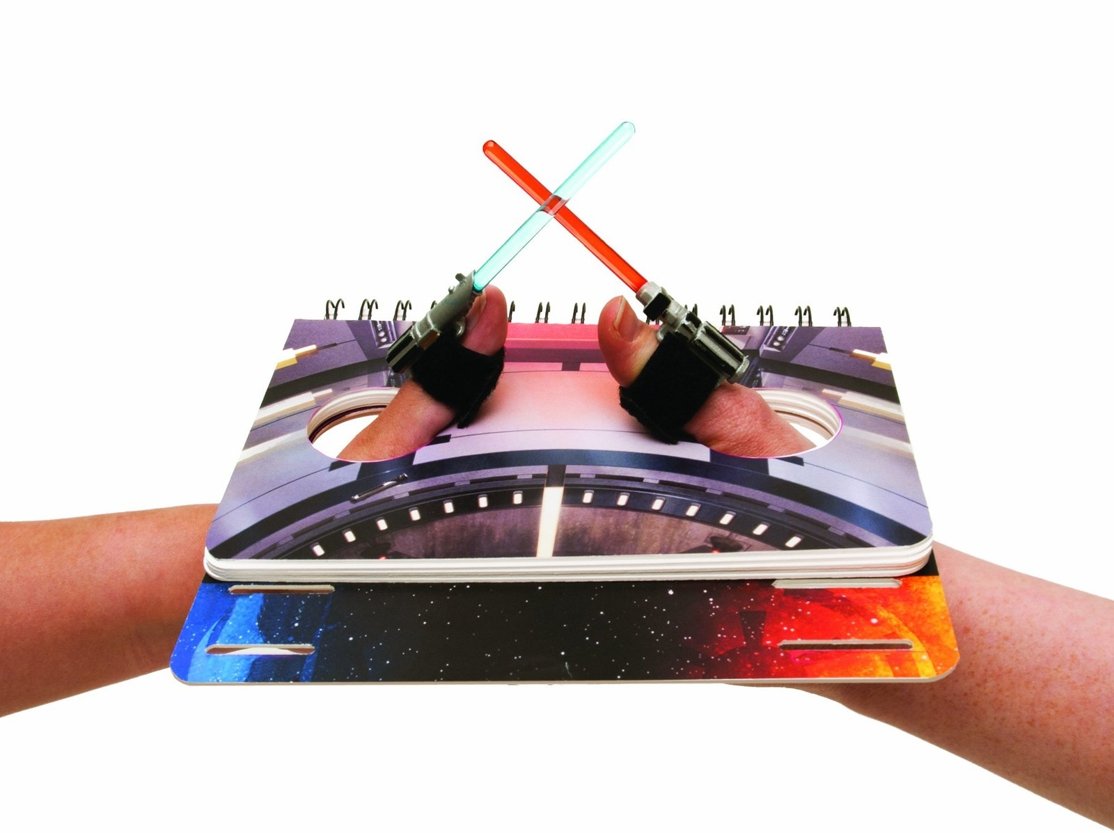 Thumb-wrestling has never been more dramatic! The spiral-bound book has seven stages to choose from and tiny lightsabers for your thumbs. Get it from Amazon for $11.69.