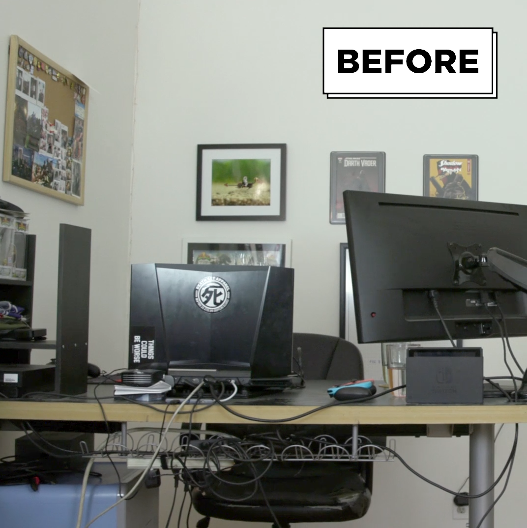We Recently Gave A Serious Gamer An Epic Home Office Makeover And, IMHO, It  Turned Out Great.