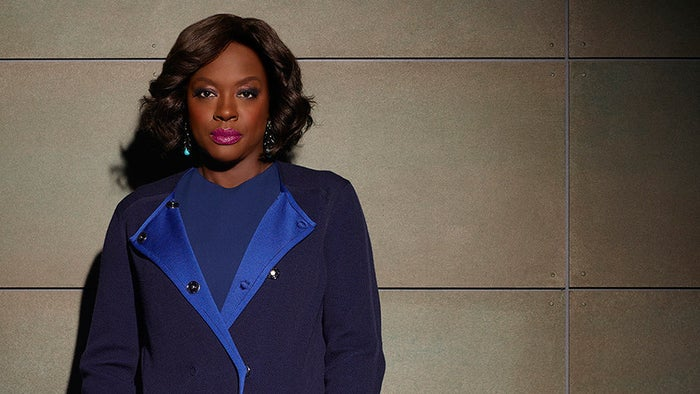 "Lyn Paolo is also the costume designer behind Annalise Keating (Viola Davis) on How to Get Away with Murder.Paolo told MPAA, ""Each of them has to have a distinct look and the choice of using that amazing burgundy leather jacket on her was a brilliant choice. She's strong and she's different and that she's not a normal lawyer. I love the choice they made, however going forward with the character, her life became more convoluted and more difficult. I tried to soften the edges a little. I feel like Viola brings that strength."""