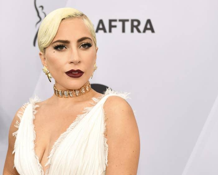 Lady Gaga at the 25th Screen Actors Guild Awards.