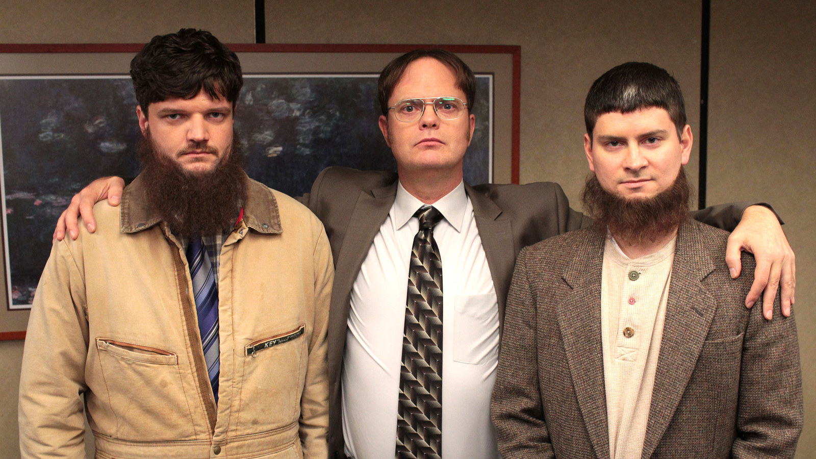 First, Dwight and Mose from  The Office  almost got their own spinoff called The Farm  . The show would've followed the Schrutes running a bed and breakfast at their beet farm.
