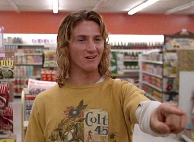 In the famous scene where Brad finally triumphs, after a series of shitty bad luck, and throws hot coffee in the face of a would-be thief, it's hard to believe Spicoli heard none of the ensuing fracas. Yes, Spicoli had gone to the bathroom but, unless the doors were double bolted behind a wall of concrete, it seems hard to believe the stoner surfer wouldn't hear the yelling and swearing going on beforehand.
