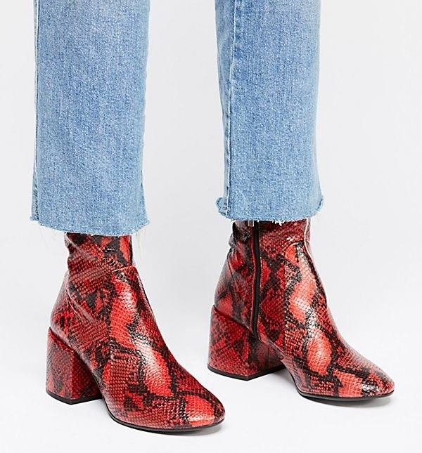 """Reviews advise to size up!Promising review: """"They're so comfortable due to how thick the heel is and I've literally been wearing them around my house tonight because I don't wanna take them off!!"""" —courthaleGet them from Free People for $170 (available in EU sizes 36–41 and two colors)."""