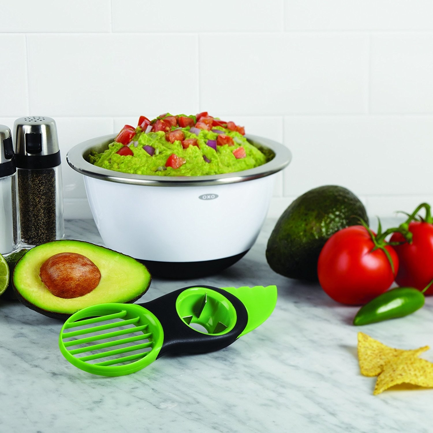"Get it from Walmart for $9.99.Promising review: ""I love guacamole and this device saves me so much time. It cuts, deseeds, slices and mashes with ease."" —Jfort"