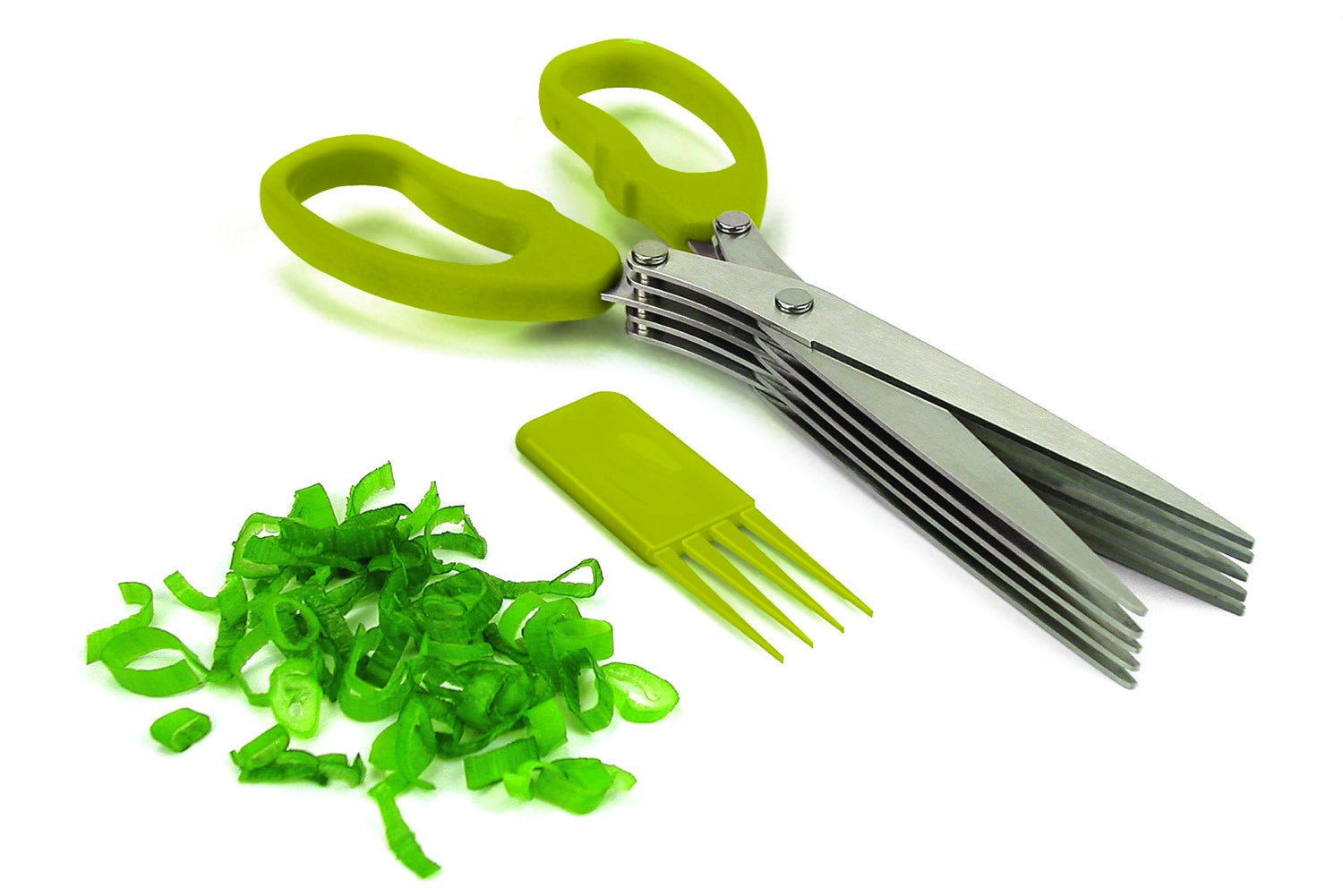 "Get them from Walmart for $10.27.Promising review: ""I finally have a tool to cut my fresh basil and parsley. I used to use a knife which often left me with pieces too big for my dishes. The handle is comfortable and the blades cut my scallions and herbs in a second. To clean just use the tip of the cover to pull off any residue, rinse and put them in the dishwasher. A very simple idea that works like a charm!"" —BusyBusy"