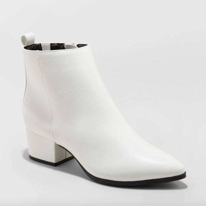 """Promising review: """"I saw these and had to have them. They're super cute and comfy, and the material is microsuede and doesn't look cheap. It's a great ankle height."""" —PerryFGet them from Target for $34.99 (available in sizes 5-12, 5-12W and in black, white, and leopard)."""