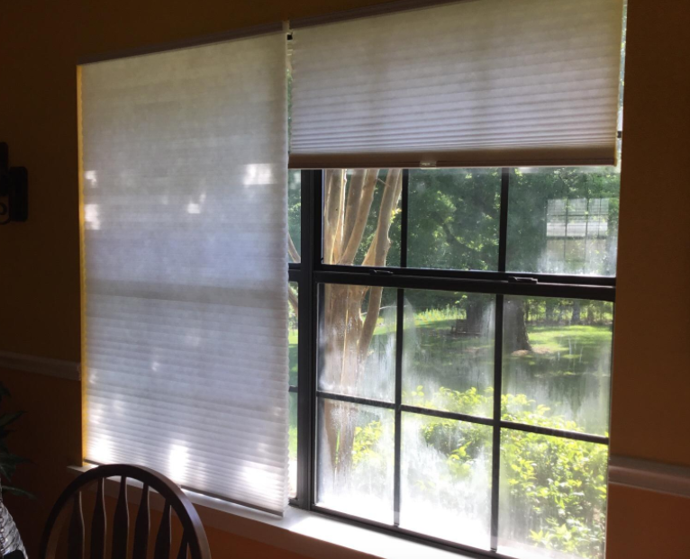 "Promising review: ""These blinds keep out the bright sun without darkening the room excessively and allows enough light in through windows to keep the room functional! It's easy to move up and down, it fits the room decor, and installation was straightforward."" —PeetGet them from Amazon for $30.07+ (available in five sizes)."