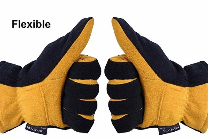 """Promising review: """"These are truly some of the warmest gloves I have. I used them last week checking outdoor equipment at work in Minnesota when it was -7°F outside with wind chills below -20°F. They kept my hands warm and have enough dexterity for writing down readings — something my warmest sub zero gloves can't do. They also don't conduct as much cold into your hands from cold tools like others can. I got a pair for driving and home too. Very happy with them and certainly were a good price."""" —J. HennessyPrice: $15.80 (available in three color combos and sizes S–XL)"""