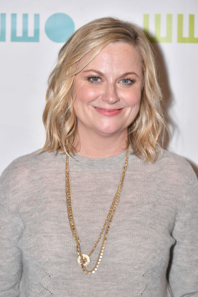 First, Amy Poehler was  considered for the role of Rapunzel in  Tangled before Mandy Moore was cast. -  In fact, Reese Witherspoon, Natalie Portman,  Idina Menzel, and Kristen Bell  all auditioned for Rapunzel.