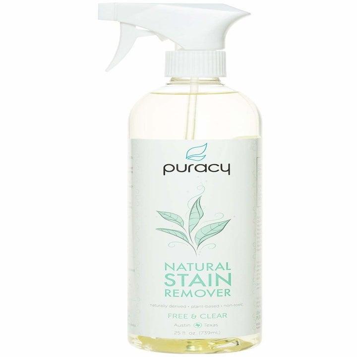 the spray bottle of cleaner
