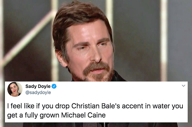 Everyone Was Shook By Christian Bale's British Accent At The Golden Globes