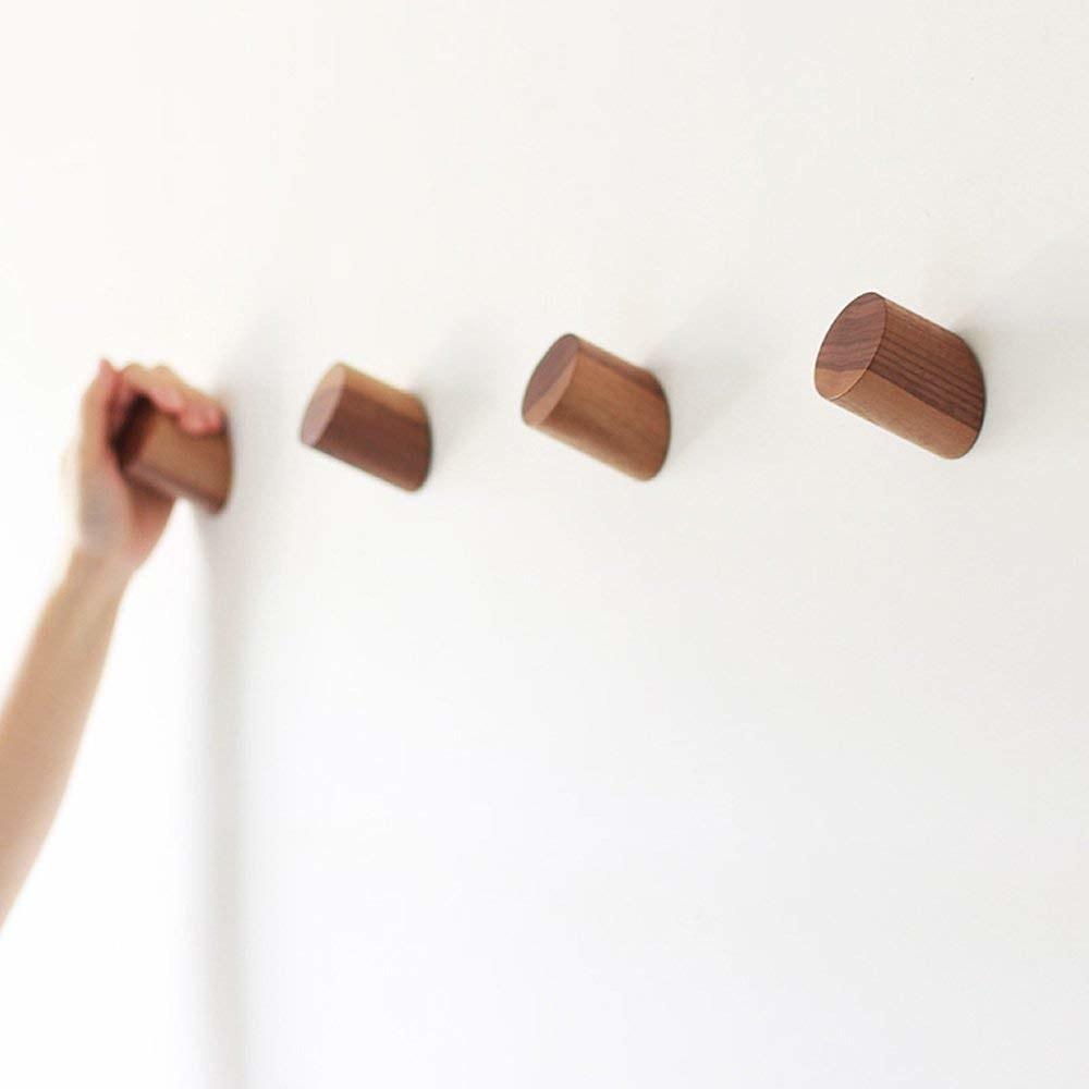 four short and stout cylinder shaped hooks