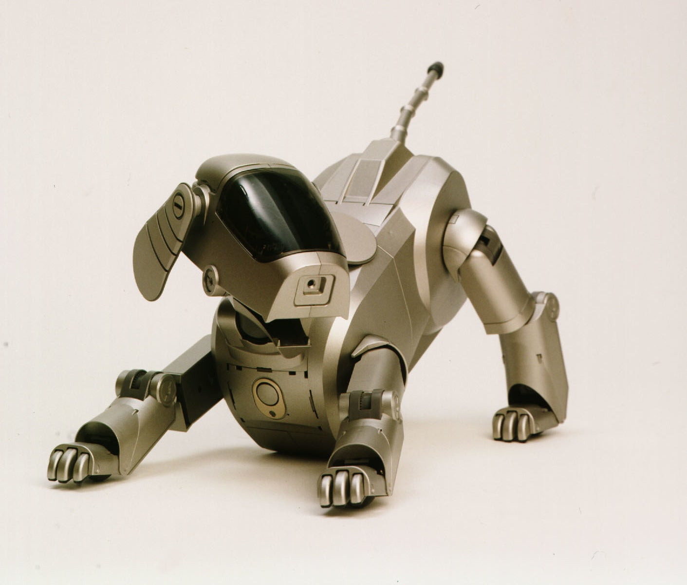 Product shot of a robot dog