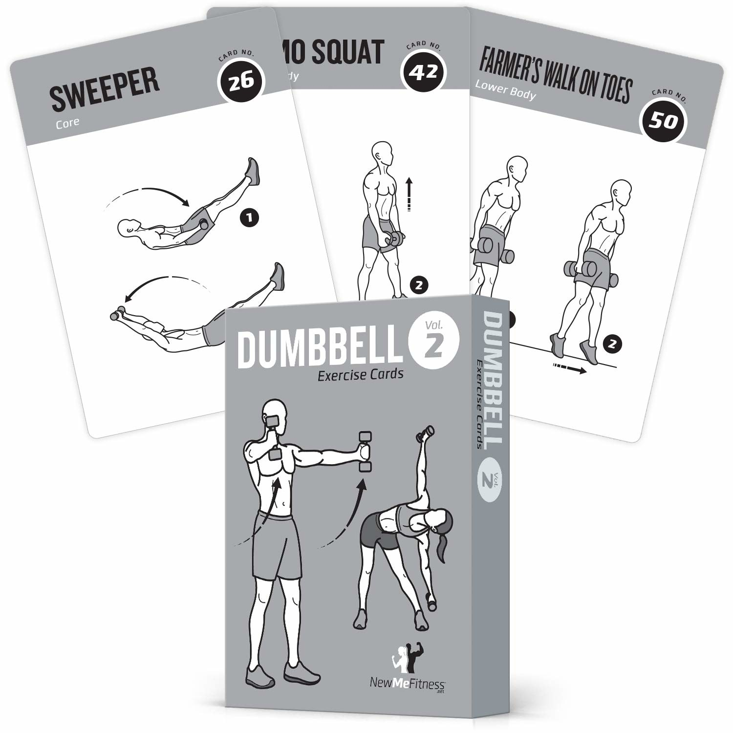 the exercise cards which come in a deck and have various illustrations of workouts on them
