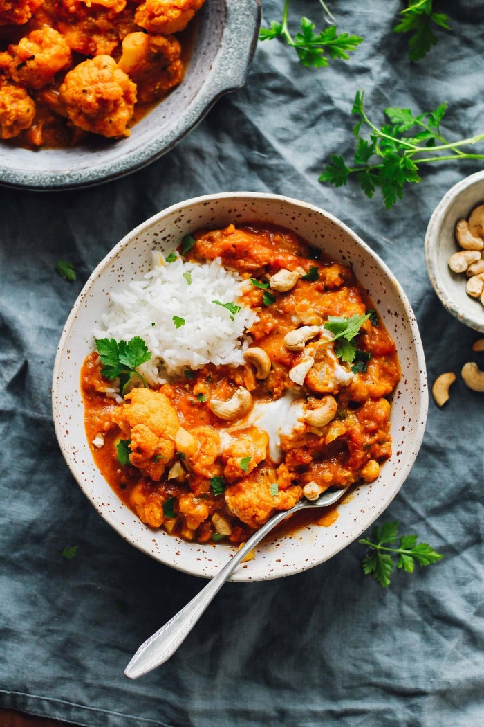 Don't freak out, but...this Indian-inspired dish is perfectly spiced, super rich and creamy, and comes together in only 30 minutes. I KNOW. Get the recipe here.