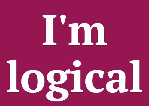 I'm logical