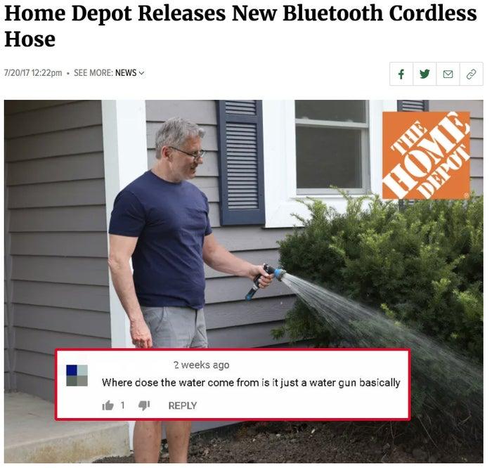 Home Depot Cordless Garden Hose