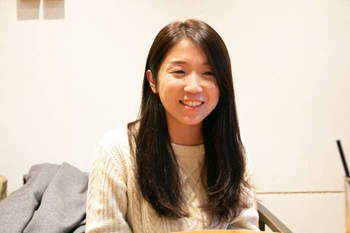 NPO法人チャイボラ代表理事の大山遥さん。現在は2つの児童養護施設で非常勤職員として働きながら、活動を行なっている。取材当日は宿直明けだった。