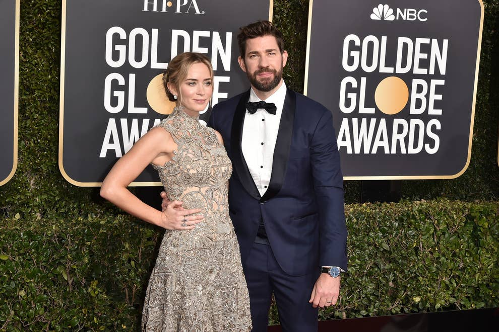 John Krasinski Accidentally Recreates Meryl Streep Meme At Golden Globes