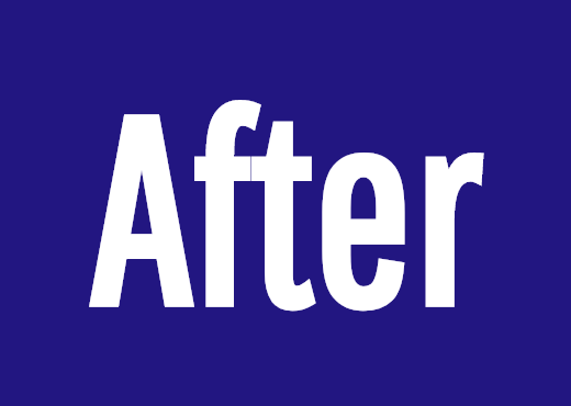 After<br />