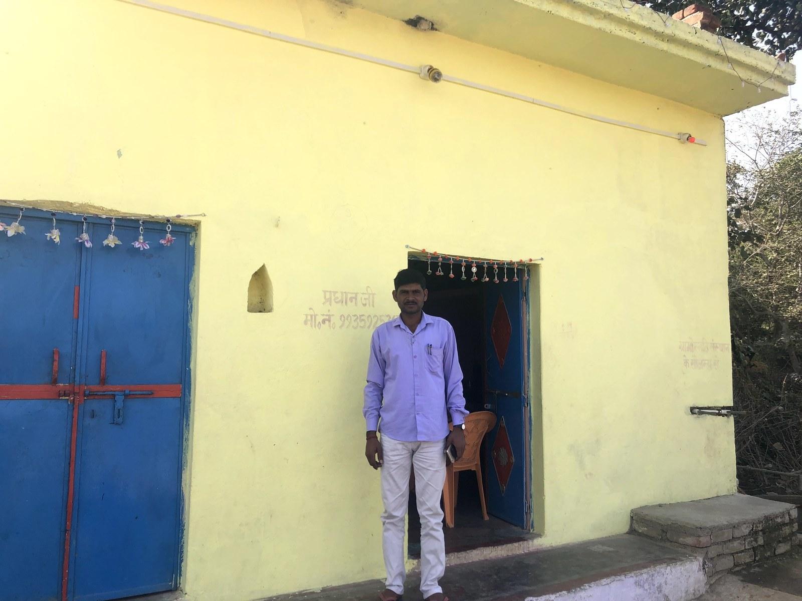 Bhagwan Das Pradhan, head of Bara village council