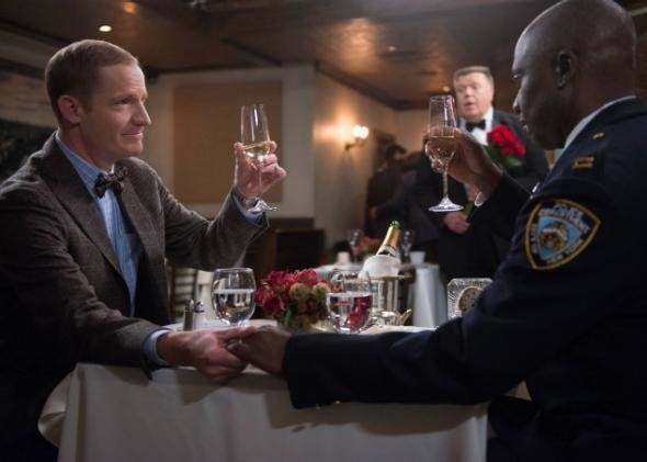 And then, when the squad helped set up this romantic dinner for Captain Holt and Kevin