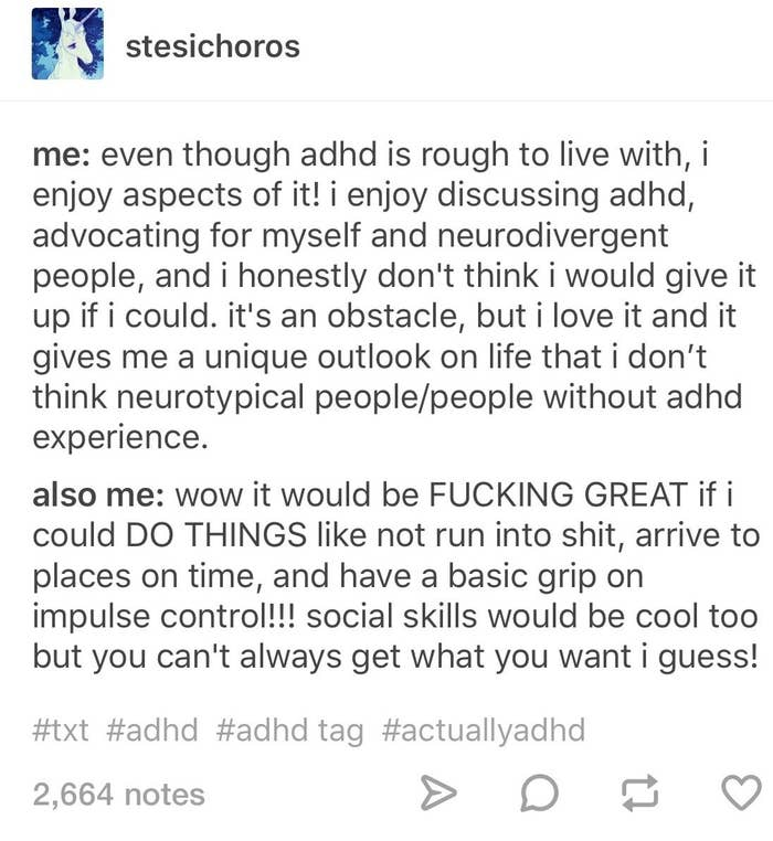 23 ADHD Tumblr Posts That Are A Little Too Relatable