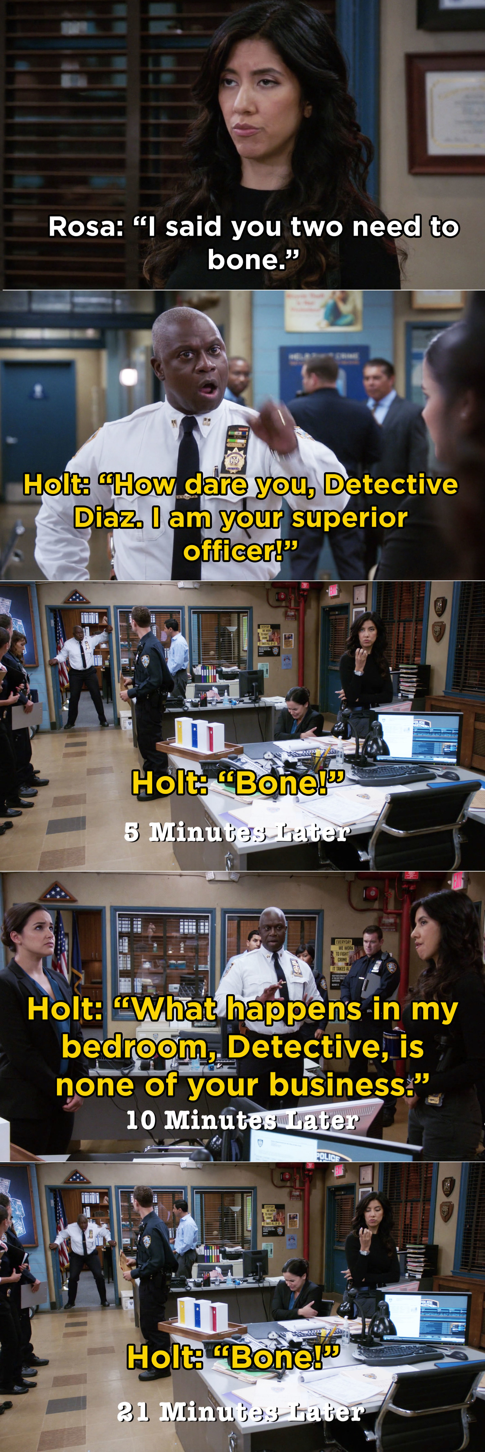 When Rosa hilariously suggested that Holt and his husband, Kevin, should ~bone~
