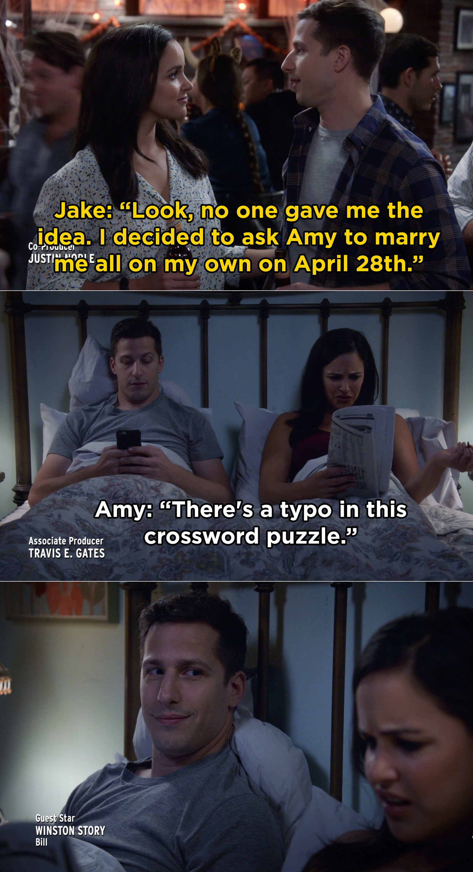 And when Jake revealed the moment he knew he wanted to marry Amy