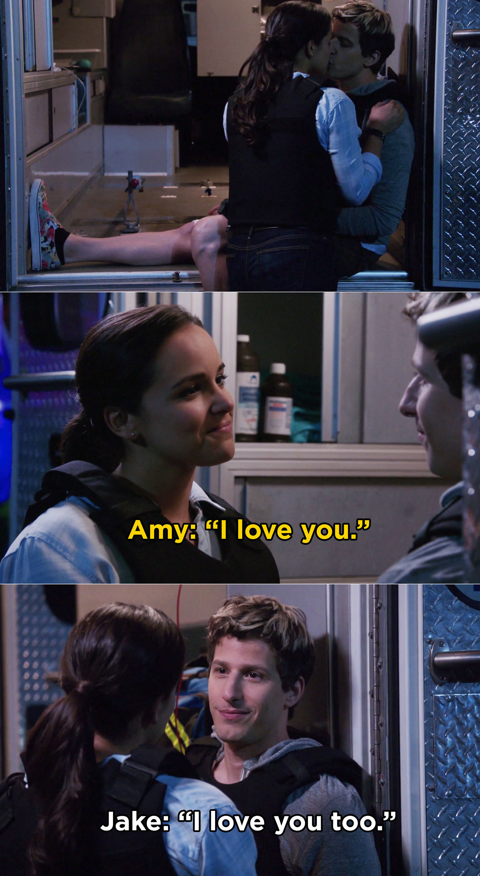 And then, when Jake and Amy were reunited after months apart