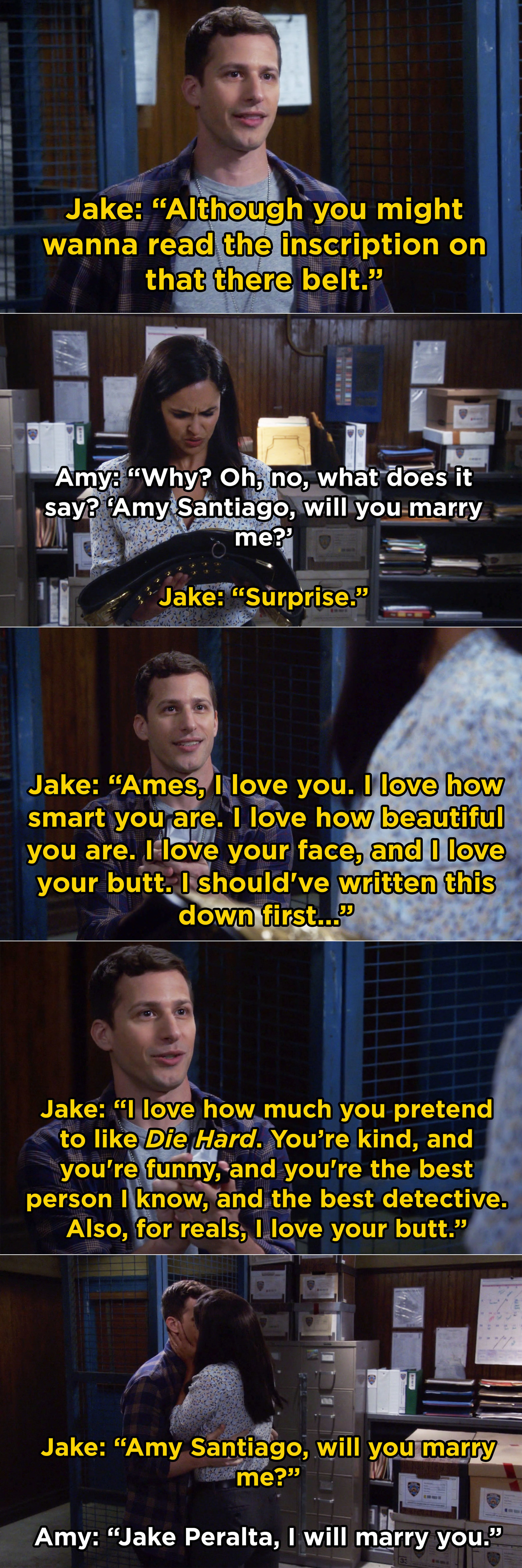 And when Jake made us all cry by rigging the end of a Halloween heist so he could propose to Amy
