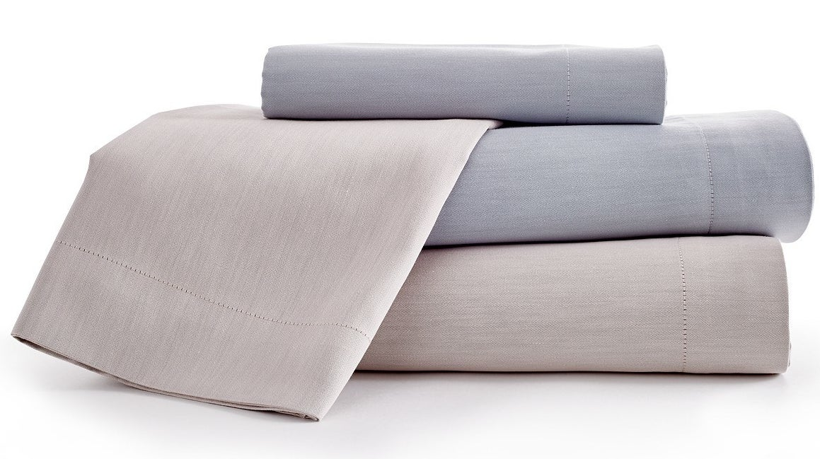 This set includes a flat sheet, fitted sheet, and two pillowcases (only one pillowcase if you're ordering the twin size).Get it from Angle News's Goodful line, exclusively at Macy's for $65+ (available in twin, full, queen, king, and California king sizes).