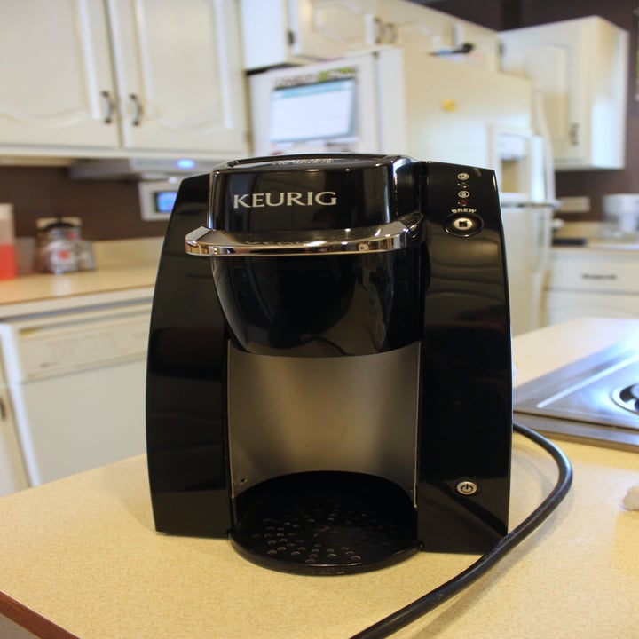 after: the same keurig, looking clean and new