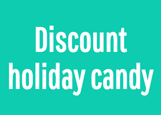 Discount holiday candy