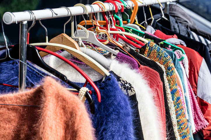 One man's trash is another man's treasure, and you can absolutely find gold hidden in the bottom of your bestie's closet. Consider doing a swap party, filled with music, food, and of course, amazing clothes.