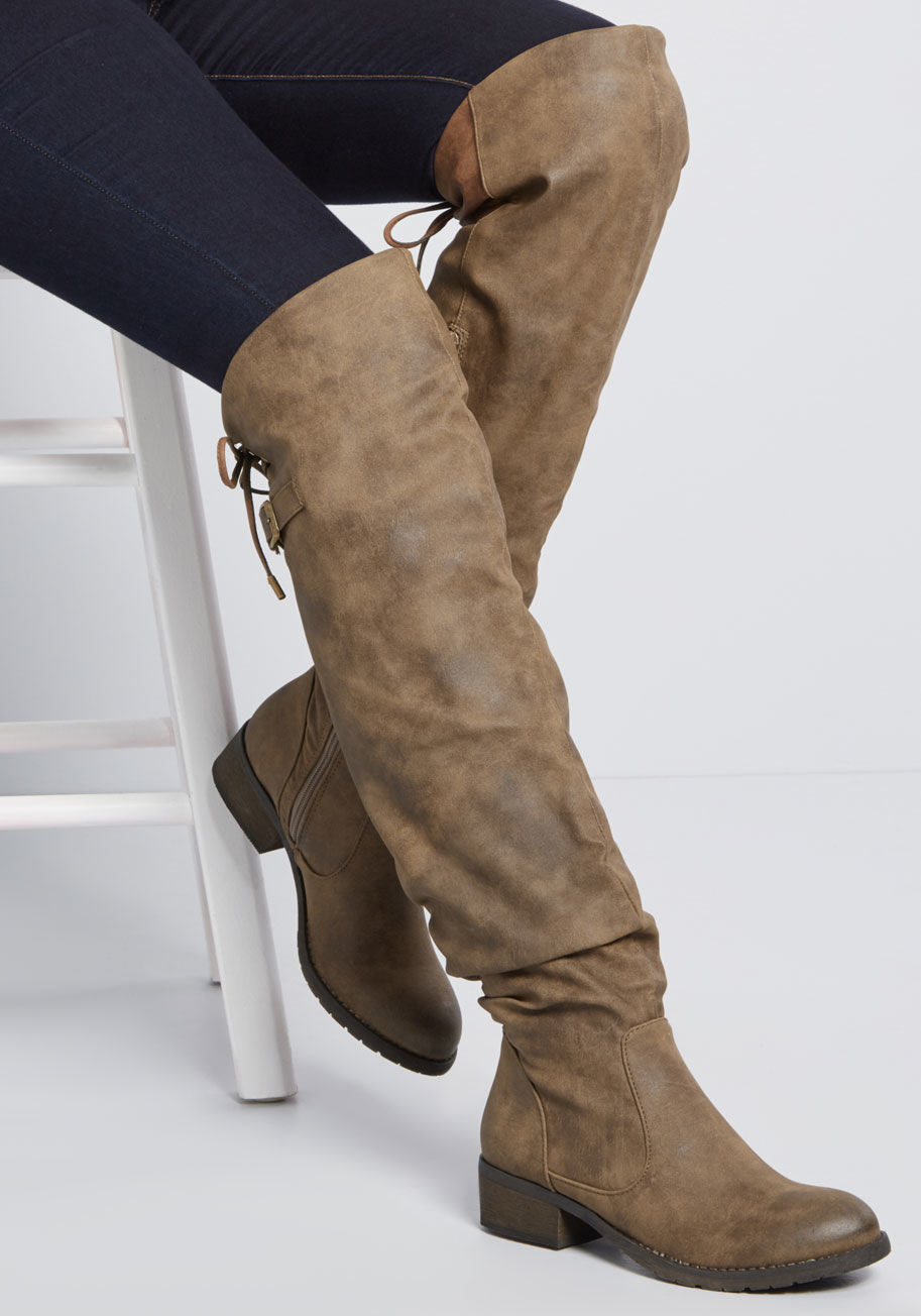 735a93d0437 Faux leather boots featuring a worn-in finish that are perfect for ~casual  but not totally casual~ nights out. Movie and dinner dates