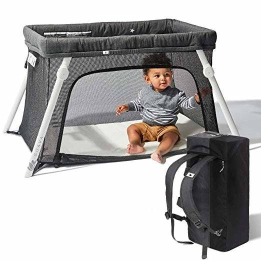 When we told our families we were expecting a baby everyone decided to offload their pack and plays on us because we surely were going to need them. They were clunky and took up space, I couldn't stand the sight of them and Ozzy seemed to hate sleeping in them. So I did some research and found this highly rated travel crib. The Lotus is very easy to set up (they claim in 15 seconds which my husband agrees to) and so so so light you can carry it as a backpack through any airport. Bonus points for the side panel that opens so you can cuddle or play with your baby. I love it and, more importantly, so does our baby. Get it from Amazon for $209.