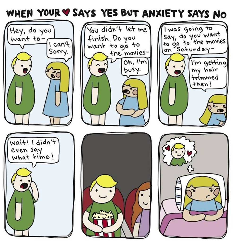 These Comics Perfectly Capture What It S Like To Live With Anxiety