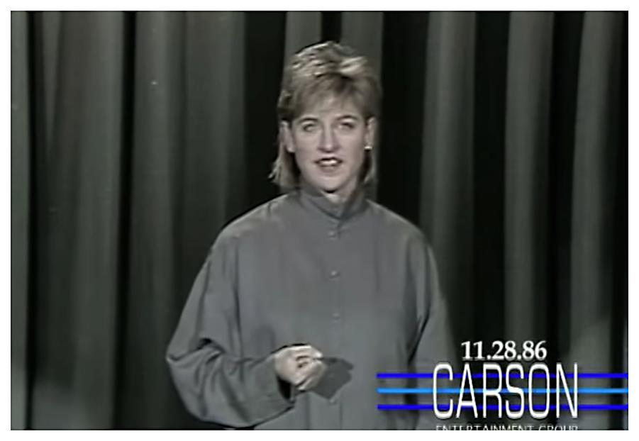 DeGeneres on The Tonight Show in 1986.