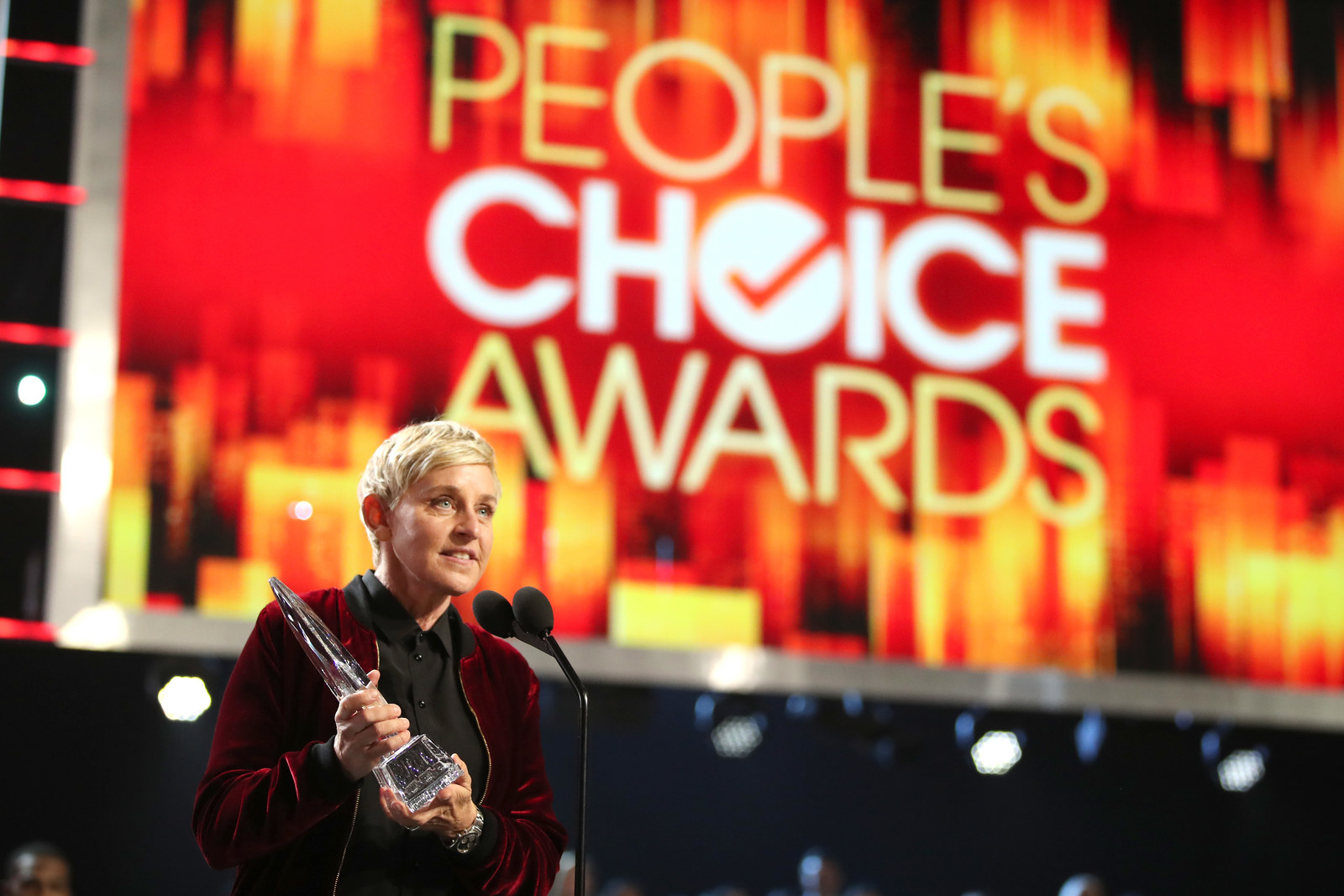 DeGeneres accepts a People's Choice Award in 2017.