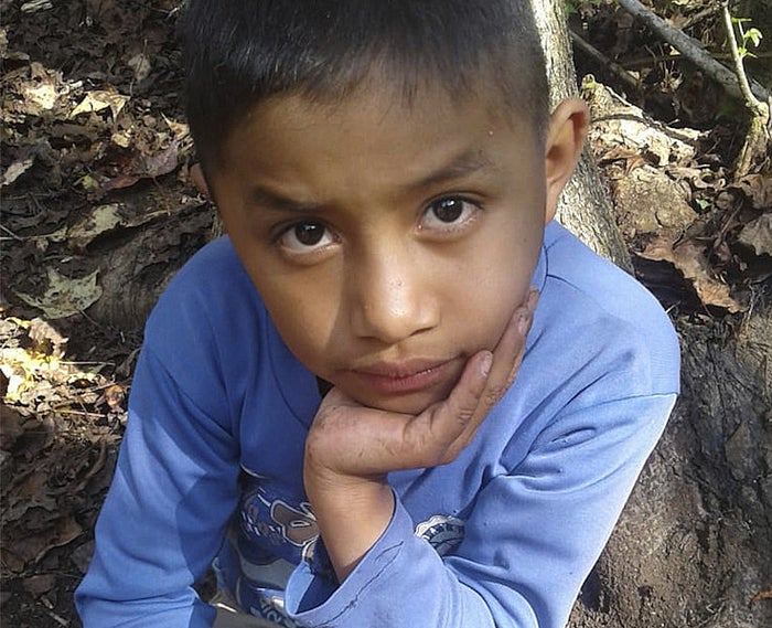 A Dec. 12, 2018, photo of Felipe Gomez Alonzo, 8, in Yalambojoch, Guatemala.