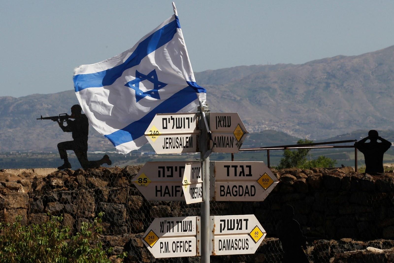 An Israeli flag in the Israeli-annexed Golan Heights.