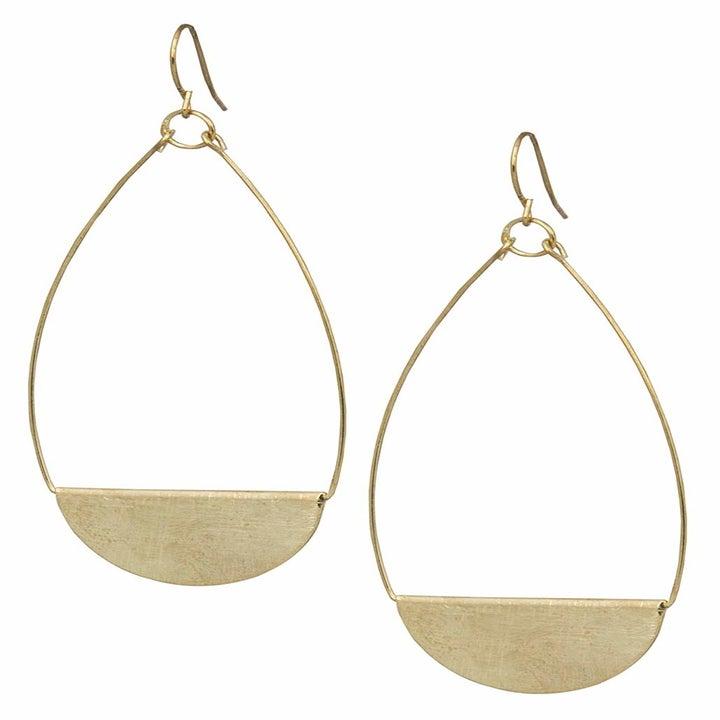 the gold drop earrings
