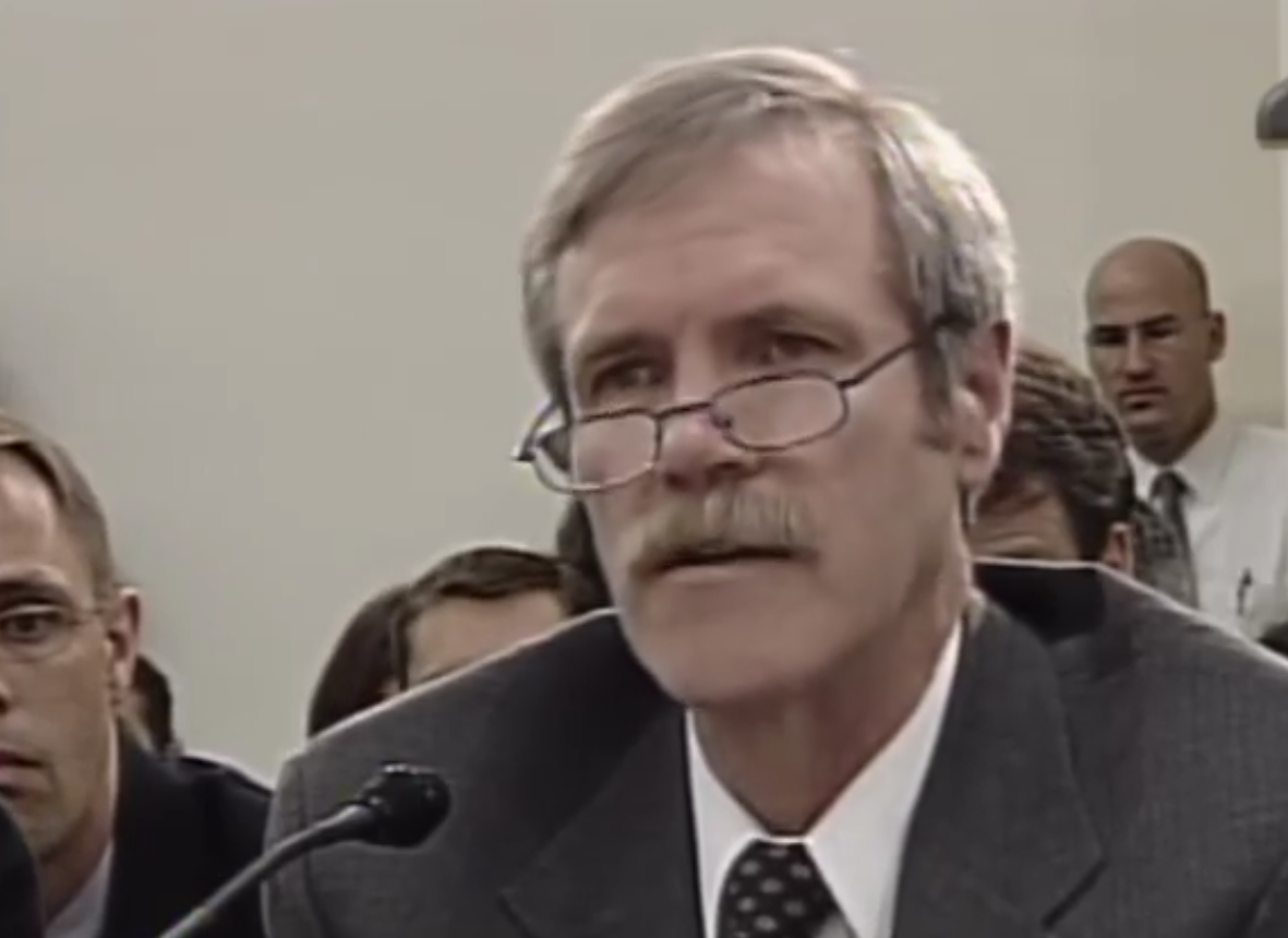 John Christy testifying to Congress in 2006.
